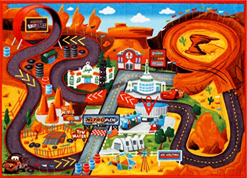 Disney Cars Play Rug Lightning McQueen Mater HD Printed Kids Room Decor Bedding Throw Area Rugs 5×7, X Large