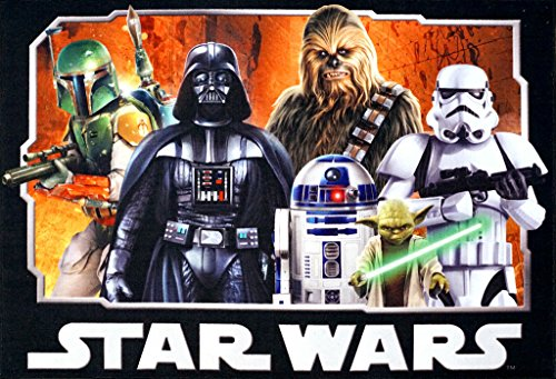 Star Wars Rug HD Digital ep 5 Darth Vader, Yoda, Chewbacca, R2D2 Kids Bedding Wall Decals Area Rugs 5×7, XL