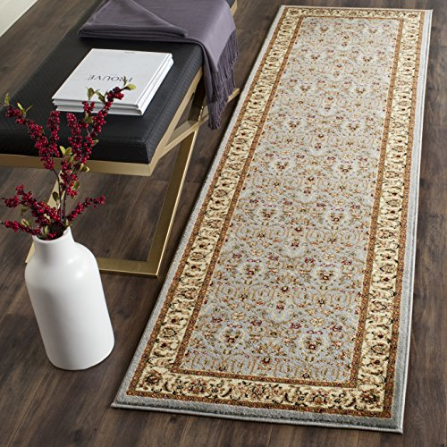 Safavieh Lyndhurst Collection LNH312B Traditional Oriental Light Blue and Ivory Runner 2'3″ x 6′