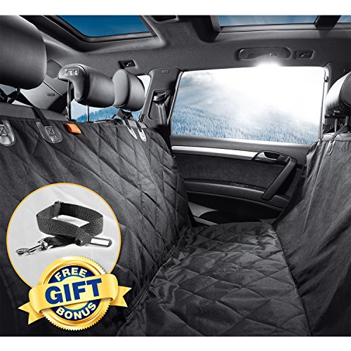 Waterproof Dog Car Seat Covers for Well Protected Cars & Comfortable Pet – Quilted, Non-Slip Design – Gudaco Premium Pet Car Seat Cover – Use as Car Hammocks for Pets or Back Seat Covers for Dogs