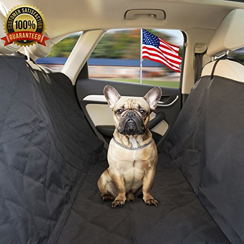 Pet A Bite Reliable Car Seat Cover No More Dog Hair On The Back Waterproof Luxury Hammock Protector With Flaps PVC Storage Bag