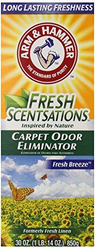 Arm & Hammer Fresh Scentsations Carpet Odor Eliminator, Fresh Breeze, 30 Oz Pack of 6