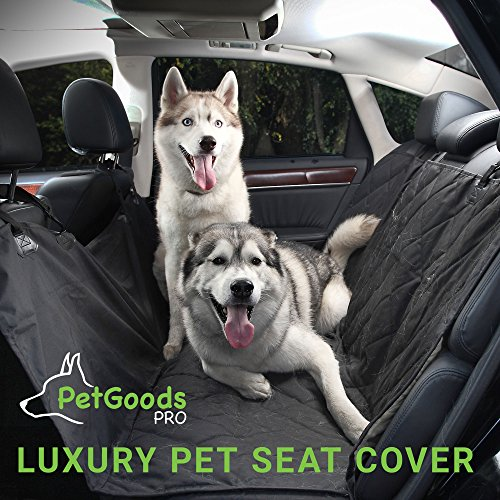 PetGoodsPro Car Dog Seat Cover – TOP Quality Non-Slip Waterproof Cover for All Types of Vehicles with Seat Anchors and Side Flaps – Protection from Hair and Dirt – Machine Washable