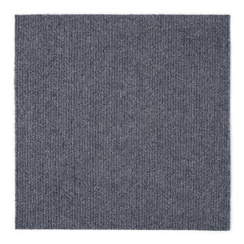 Achim Home Furnishings NXCRPTSM12 Nexus 12 inch x 12 inch Self Adhesive Carpet Floor, 12 Tiles/12 Sq'., Smoke