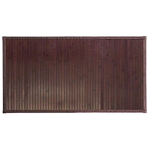 InterDesign Bamboo Floor Mat, 21-Inch by 34-Inch, Mocha