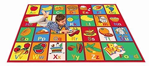 Kids Rug ABC FRUIT Area Rug 39″ X 58″ for Playroom & Nursery