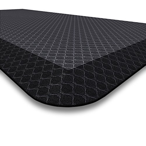 Premium Anti Fatigue Mat, 20 in x 39 in x 3/4 in, Non-Toxic, Perfect for Standup, Standing Desk, Kitchen Floor and Garage, Commercial Grade, Extra Comfortable Black