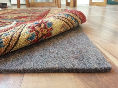 SAFE for all floors – 100% Felt Rug Pad – Extra Thick – Add Cushion, Comfort and Protection 8'x10′