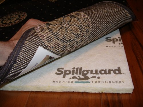 8'x10′ Multiple Sizes. AREA RUG PAD. Manufacturer: Carpenter Style: Glacier PREMIUM 1/2″ 80% Visco-Elastic Memory Foam/20% Rebond with DuPont Spillguard barrier technology. For area rugs, runners and carpet.