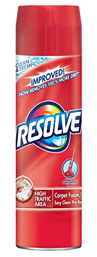 Resolve High Traffic Carpet Foam, 264 oz 12 Cans x 22 oz, Cleans Freshens Softens & Removes Stains