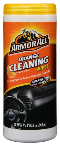 25 sheets – Armor All 10831 Air Freshening Cleaning Wipes, Orange Scent