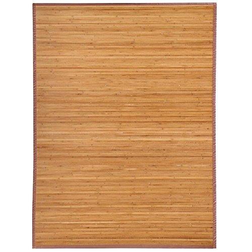 Yaheetech High Quality 5'x 8'Brown Slat Bamboo Floor Carpet Area Rug Mat Wood