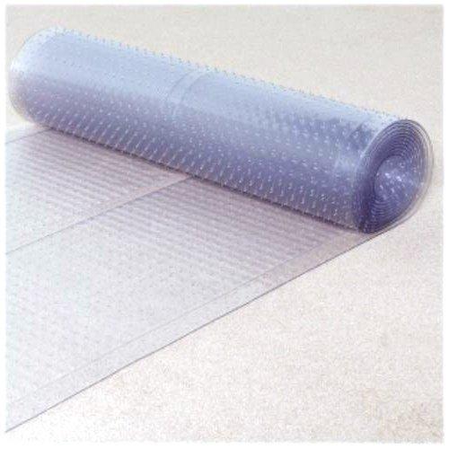 Ottomanson Multi Grip Ribbed Runner Rug Carpet Protector Mat, 72″ x 26″, Clear