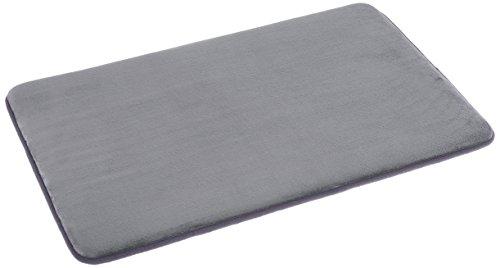 "AmazonBasics Non-Slip Memory Foam Bathmat 18"" x 28"", Gray"