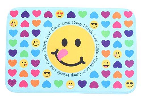 GILBIN'S Super Soft And Comfy Floor Mat Bunk Camp Floor Mats Heart Emoji