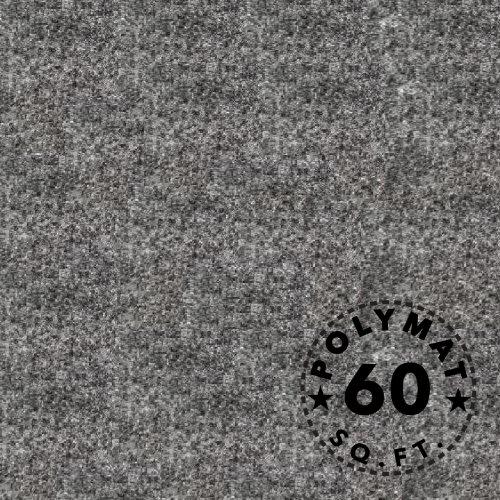 15 feet x 4 feet Wide Polymat Charcoal / Dark Grey Speaker Box Carpet Rv Truck Car Trunk and Interior Liner, Dj Cabinet Carpet