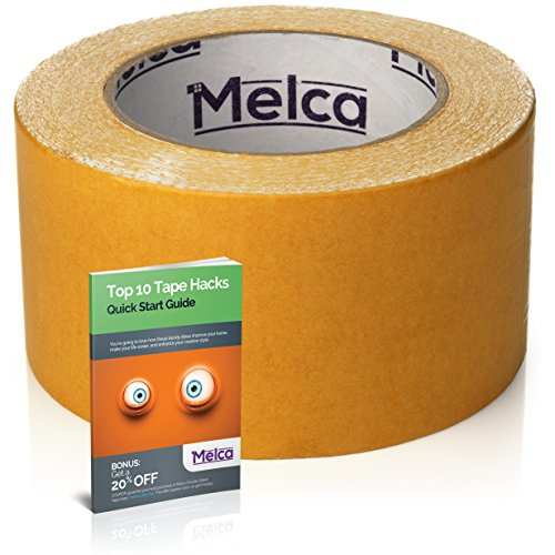 Melca Double Sided Tape, 2.5 Inch Double Stick Tape 10 Yards