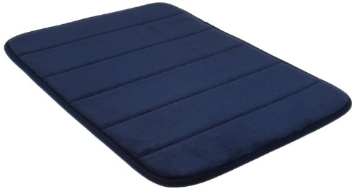 Incredibly Soft and Absorbent Memory Foam Bath Mat, 20 By 30-inch, Navy Blue