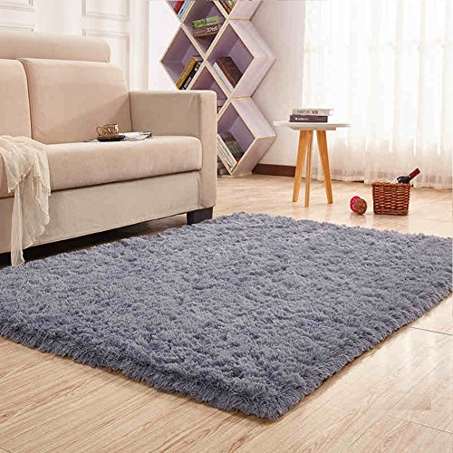 Noahas Super Soft 4.5cm Thick Modern Shag Area Rugs Fluffy Living Room Carpet Comfy Bedroom Home Decorate Floor Kids Playing Mat 4 Feet by 5.3 Feet
