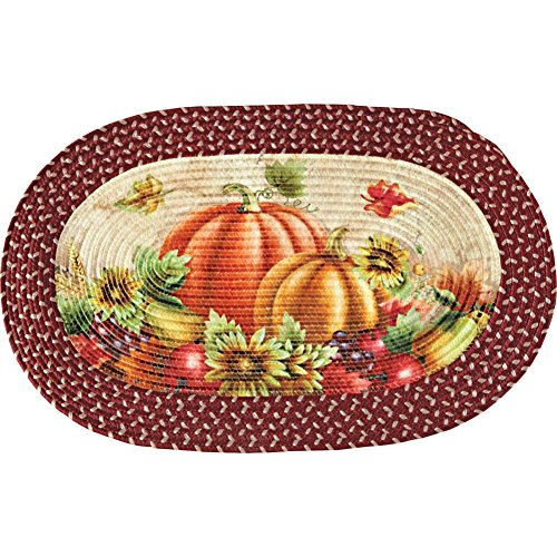 Autumn Pumpkin Patch Braided Rug