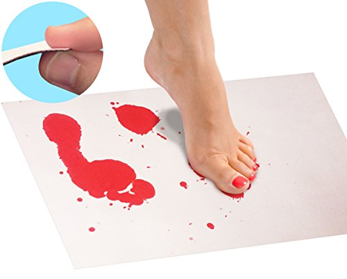 Bloody Bath Mat Sheet Invisible Color Changing Sheet Turns Red When