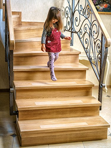 Kenley Non Slip Stair Treads U2013 10 Pack Clear Step Strips 4u2033x24u2033 Indoor U0026  Outdoor U2013 Anti Slip Floor Vinyl Safety Grip Tape With Adhesive For Steps U0026  Stairs ...