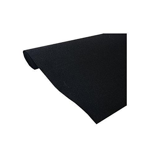 Marine Upholstery Durable Un-Backed Automotive Trim Carpet 72″ x 36″ Mini Roll BLACK
