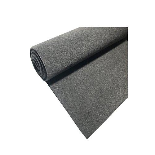 Marine Upholstery Durable Un-Backed Automotive Trim Carpet 72″ x 36″ Mini Roll GRAY
