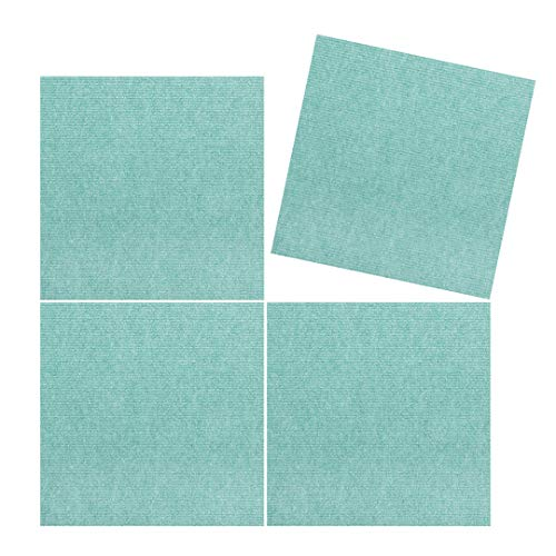 4 Pc Set – TRILUC Peel, 12 x 12 Place and Stick Soft Tile Mats – Teal