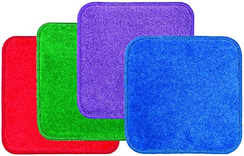 Flagship Carpets AS-04STA Stow N' Go Jumbo Carpet Squares, Red/Green/Purple/Blue