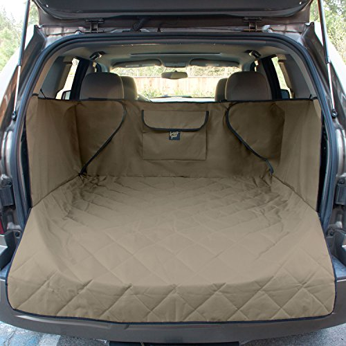 FrontPet Extra Wide Quilted Dog Cargo Cover for SUV Universal Fit for Any Animal. Durable Liner Covers and Protects Your Vehicle, Extended Width, Tan