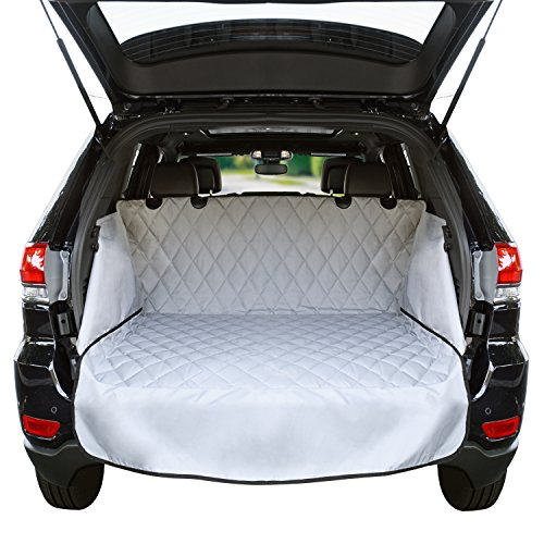 Cargo Liner For SUV's and Cars, Waterproof Material, non Slip Backing, With Side Walls Protectors, Extra Bumper Flap Protector, Large Size – Universal Fit