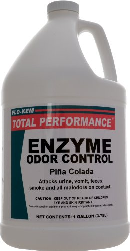 Flo-Kem 11192 Enzyme Odor Eliminator with Pina Colada Fragrance, 1 Gallon