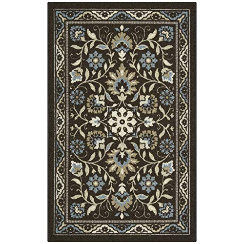 Maples Rugs Accent Rug – Florence 2'6 x 3'10 Non Skid Hallway Entry Rugs Accents Made in USA for Kitchen and Entryway, Coffee Brown