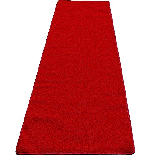 Mybecca High Class VIP Quality Persian RED Carpet Aisle Runner for Parties & Hollywood-Feel Events, 2 x 10 ft 1ft.8 x 10 ft Wedding and Ceremony red Carpet 2×10, Red