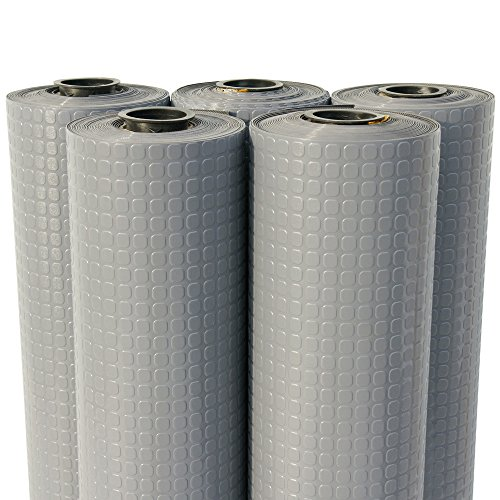 2mm x 4ft x 12ft Rubber Rolls – Rubber-Cal Block-Grip Rubber Runner Mat – Dark Gray