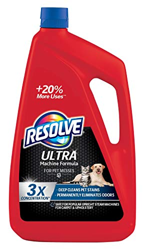 Resolve Ultra Pet Steam Carpet Cleaner Solution Shampoo, 48oz, 3X Concentrate, Safe for Bissell, Hoover & Rug Doctor