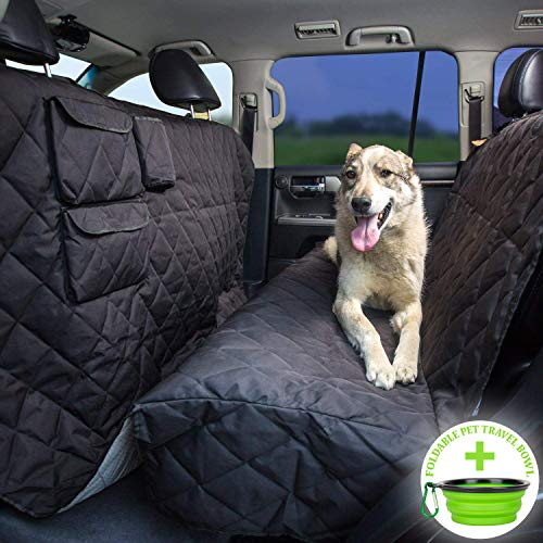 56Wx96L – Heavy Duty, Waterproof, Nonslip, No Odor, Seat Anchors, Washable – Tapiona XL Dog Seat Cover – Large Pets Hammock – Truck & SUV Extra Coverage Back Seat Cover