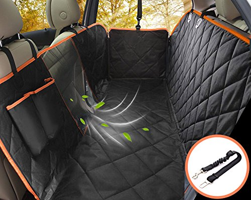 Waterproof & Scratch Proof & Nonslip Backing & Hammock, Dog Backseat Cover Protector with Mesh Window, Fits for Cars Trucks and SUVs – Lifepul Dog Seat Cover Car Seat Cover for Pets