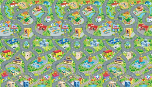 Multi-Purpose EVA Foam Mat with Giant 78″ x 46″ Washable Play Surface, Age 0 and up – Happyville Smart Mat by PlaSmart