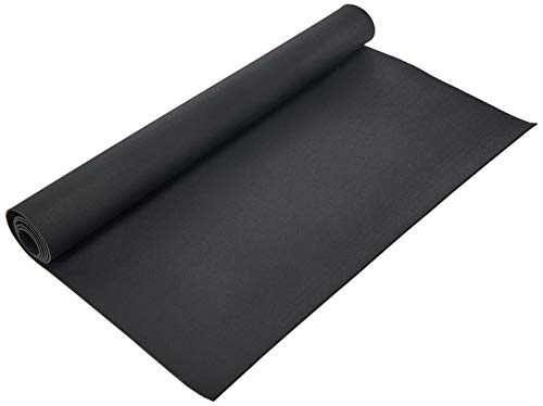 Rubber-Cal Elephant Bark Flooring and Rolling Mat, Black, 1/4-Inch x 4 x 5.5-Feet