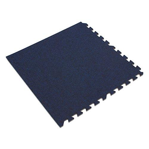We Sell Mats Charcoal Gray, 24 sq' 16 Sqft Premium Carpet Tiles, Dark Blue