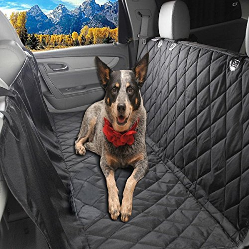 Car Backing Seat Cover for Pet- Quilted Waterproof Non Slip Hammock Convertible – Glyby Dog Car Seat Cover
