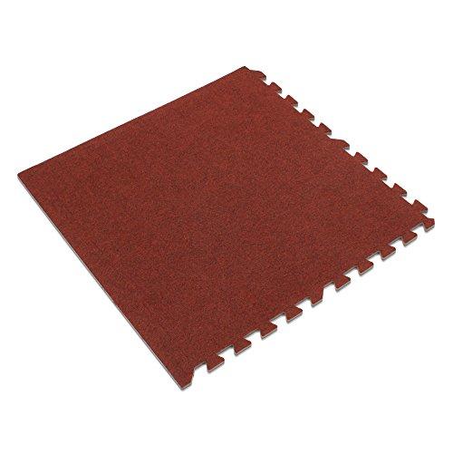We Sell Mats 48 SqFt Premium Carpet Tiles, Burgundy