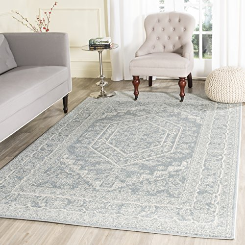 Safavieh Adirondack Collection ADR108T Slate and Ivory Oriental Vintage Medallion Area Rug 8′ x 10′