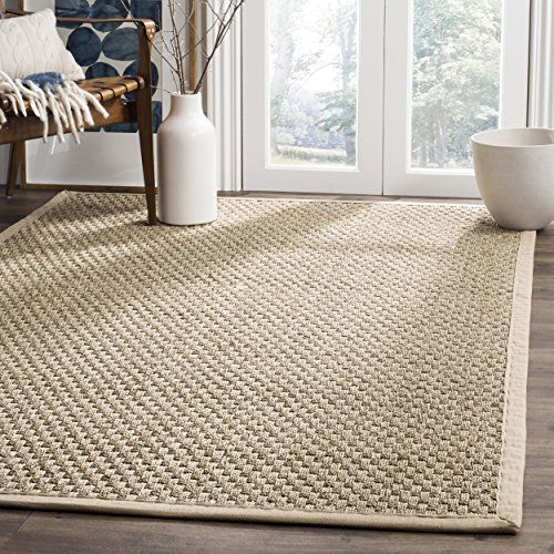 Safavieh Natural Fiber Collection NF114A Basketweave Natural and Beige Summer Seagrass Area Rug 4′ x 6′