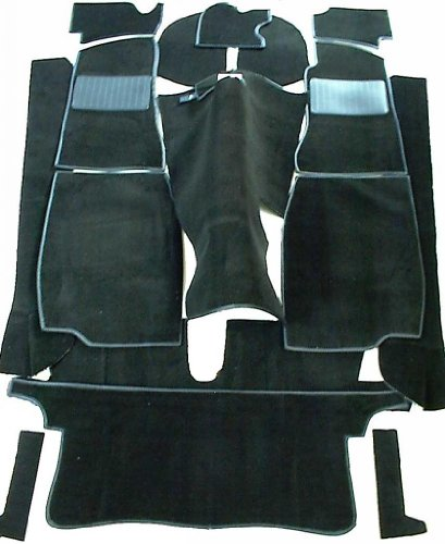 MG MGB GT Complete Replacement Interior Carpet Kit High Quality -Black