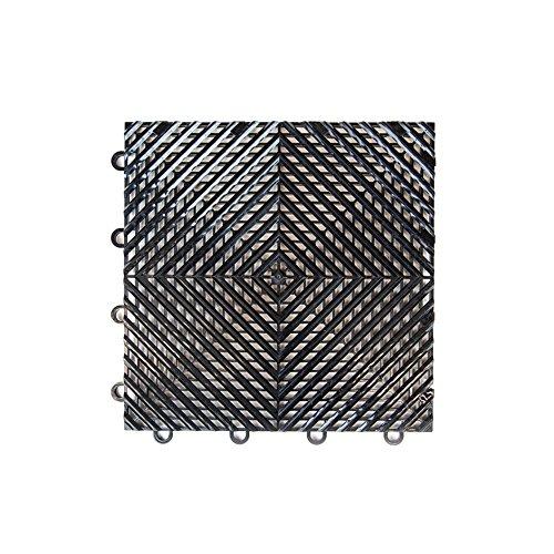 IncStores Nitro Garage Tiles 12″x12″ Interlocking Garage Flooring 1-12″x12″ Tile, Vented Black