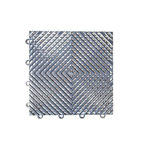 IncStores Vented Nitro Garage Tiles 12″x12″ Interlocking Garage Flooring Graphite – 52-12″x12″ Tiles
