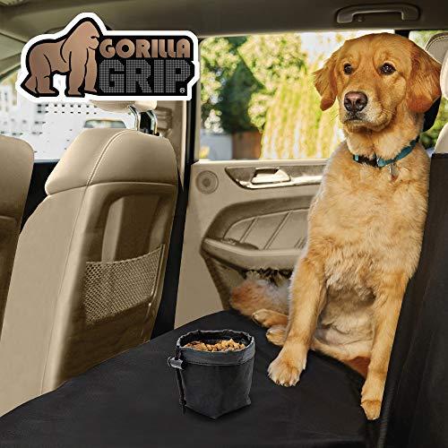 Gorilla Grip Original Premium Slip-Resistant Pet Car Seat Protector for Pets, Durable Protectors for Cars, Truck, SUV, Underside Grip, Waterproof, Seat Belt Openings, Pocket, X-Large Bench: Black
